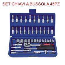 Set Chiavi Combinate a Cricchetto 45 pz.Set Inserti torx - esagonale EN-28884