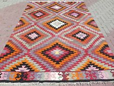 "Turkish Wool Rug,Antique Antalya Classic Kilim 74,8""x108,2""Are a Rug,Floor Carpet"