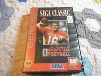 Sports Talk Football w/Joe Montana II,1993 Red Label Sega Genesis Cartridge Game