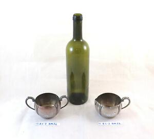 LATTIERA E ZUCCHERIERA IN METALLO MONARCH PLATE BRAND VINTAGE E. P. Copper BM24