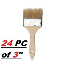 "24 Pc of 3"" Chip Brush Brushes Perfect for Adhesives Paint Touchups 3 Inch"