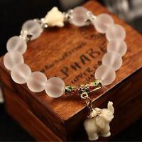 NEW Fashion Women Jewelry Crystal Elephant Drop Charm Bracelet Chain Bangle Gift