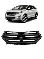 Fit for 15 16 17 18 Ford Edge Front Bumper Grille Grill Gloss Black NEW