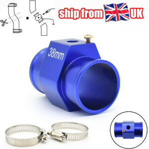UK Coolant Water Temp Radiator Hose Joint Pipe Adapter Clamps Kit 38mm Aluminum