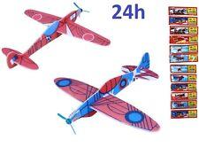 Lot 5 avions planeurs jouets anniversaire enfant à monter maquette facile NEUF