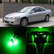 17 Ultra Green LED Light Interior Package For Honda ACCORD 1998 2002 Coupe Sedan