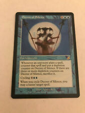 MTG Decree of Silence - Scourge Rare- NM Unplayed Condition, Free Shipping!