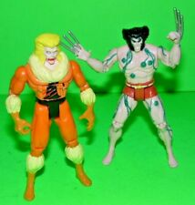 "Marvel Toy Biz Action Figure SABRETOOTH & WOLVERINE 5""  X-Men 1992 Collection"