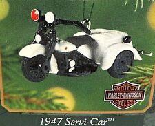 "HALLMARK ""1947 SERVI-CAR"" MINIATURE HARLEY-DAVIDSON ORNAMENT"