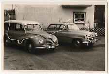 14x9cm Altes Foto um 1959 DKW F91 Universal Kombi + Skoda 440 photo