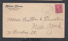 USA 1890's NELMS HOUSE HOTEL COVER GRIFFIN GEORGIA RPO  TO NEW YORK
