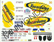 DECALS RENAULT MEGANE MAXI RALLY VALLI OSSOLANE 1999 SAGLIO 1/43 RACING43