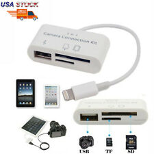 USB 3 in 1 Camera Connection/SD Card Reader Adapter Kit for Apple iPhone iPad US