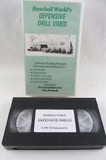 VHS - Baseball World's DEFENSIVE DRILL VIDEO, Tom Emanski, 1990, Orlando FL