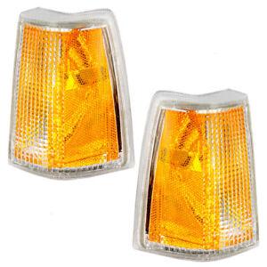 Side Marker Lights Set fits Volvo 740 760 Pair Corner Signal Amber Marker Lamps