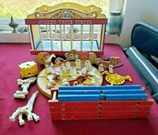 VINTAGE 1960's Wooden Fisher Price Circus Wagon Train Ships in 24 hours!