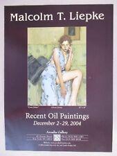 Malcolm T. Liepke Art Gallery Exhibit PRINT AD - 2004
