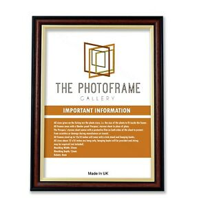 Cushion Profile 302 Picture Frame Gold & Walnut Photo Frame Art Frame Made In UK