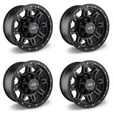 "Set 4 17"" Vision 400 Incline Matte Black Wheels 17x9 8x6.5 -12mm Chevy GMC 8 Lug"
