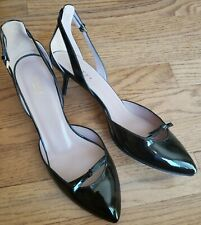 Gucci Black Size 39 Pointed Toe Bow Italy Leather Stiletto Heels Pump Dress Shoe