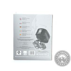 OPEN BOX Skull Shaver Pitbull Silver PRO Wet/Dry Electric Razor in Black