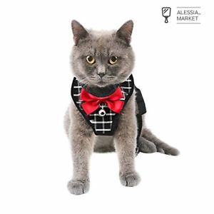 Mnioky Pettorina per Gatti con Guinzaglio,Harness Cat,Pettorina per Cani Piccola