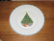 NOEL PARCELLE HOUSE OF SALEM FRANCE CHRISTMAS PLATE W/ TREE