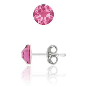 Sterling Silver Stud Earrings made with 2088 4.8mm Swarovski® Crystals