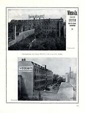 Papier Wiese Stettin XL Reklame 1924 Szczecin Polen Werbung Papierverarbeitung +