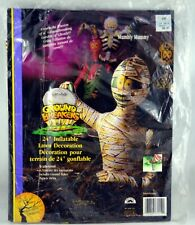 "Halloween 24"" Inflatable Lawn Decoration Mumbly Mummy NIP"