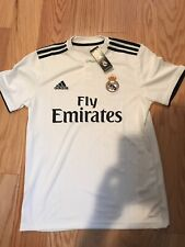 adidas Real Madrid Home Jersey 2018-2019 Size M White Dnrt Dh3372