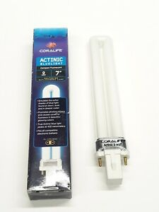 "Get 2 Coralife Actinic Bluelight 9w 7"" Aquarium compact fluorescent (1-3-3-K9A)"