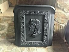 Vintage Cast Iron Fireplace Cover Egyptian Pharoah