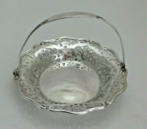 Antique Yu Chang Sterling Solid Silver Chinese Basket (1395-9-ANY)