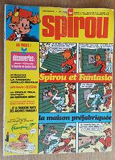 SPIROU N°1944 / DU 17 JUILLET 1975 / AVEC SUPPLEMENT ET MINI POSTER / B.
