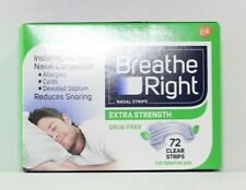 Breathe Right Extra Strength Nasal Strips 72 CLEAR Strips