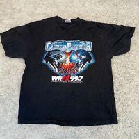VINTAGE Carolina Panthers Mens T Shirt XL Black USA Football Pro Sports Tee