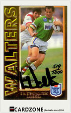 1994 Dynamic Rugby League Series 1 Embossed Gold Signature Card G2: Steve Walter