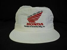 Vtg Honda of America Nylon Snapback Hat Cap Come Ride With Us Hipster