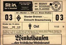 Ticket II. BL 80/81 SV Werder Bremen - Eintracht Braunschweig