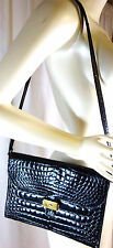 LEDERER MAGNIFICIENT RARE-  50's-60's ALLIGATOR belly skin SHOULDER BAG