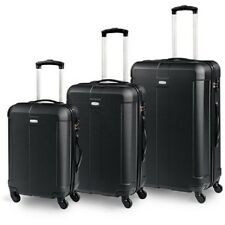 Set 3 valige Trolley Rigido Piccolo Medio Grande 3in1 4 RUOTE in ABS + TSA LOOK