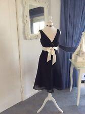 Beautiful UKDesigner Monsoon Size 10 Black And Ivory Formal Dress