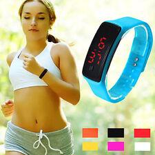 Fashion Ultra Thin Unisex Sports Watch Silicone Digital LED Wrist Watch