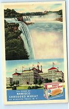 Home of Nabisco Shredded Wheat Cereal Niagara Falls NY New York Postcard B12