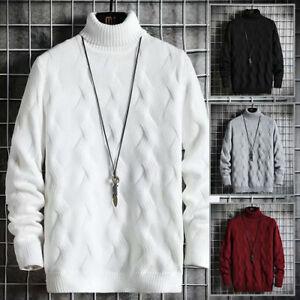 2021 Fall/Winter Men's Sweater Japanese Streetwear High Neck Stripe Pullover