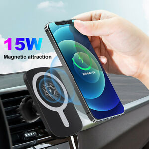 15W Magnetic Wireless Charger Air Vent Mount Car Bracket For iPhone 12 12Pro Max