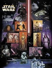 Mint Sheet of 2007 Star Wars U.S. 15 stamps C3P0 BOBA FETT R2D2 LUKE SKYWALKER
