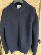 Barbour Norton & Sons Flounder Crew Wool Jumper In Navy Size L