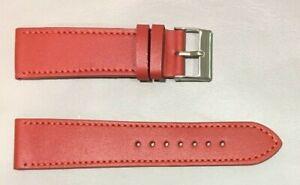Pulsera Correa de Reloj Piel Legítima Cuero 22 mm Rojo   Watchband 215